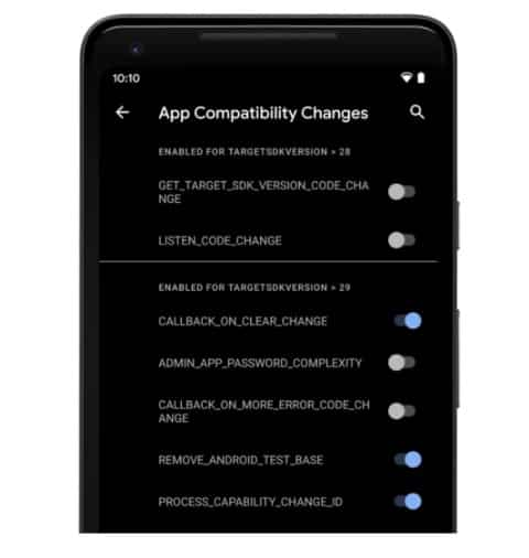 Android 11 App compability changes